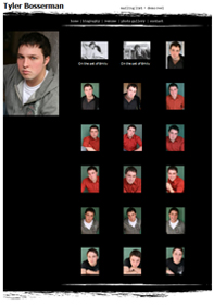 Headshots on Actor's Gallery Page